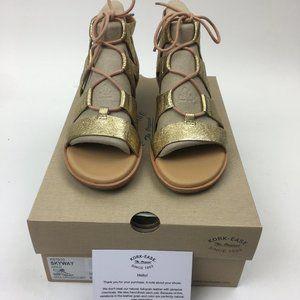 Kork-Ease Skyway Lace Sandals Gold 7 K67910